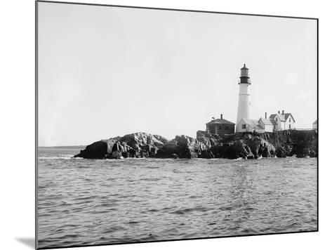 Portland Head Light, Portland, Maine, C.1900-10--Mounted Photographic Print