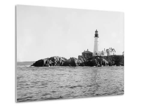 Portland Head Light, Portland, Maine, C.1900-10--Metal Print