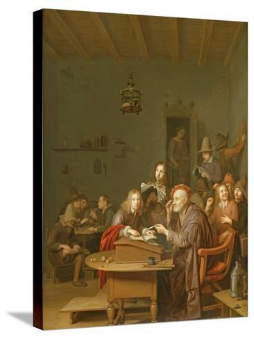 Interior of a School Room-Pieter Harmansz Verelst-Stretched Canvas Print