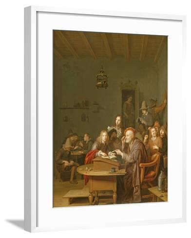 Interior of a School Room-Pieter Harmansz Verelst-Framed Art Print
