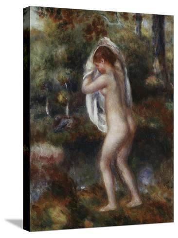 Bather Undressing, 1897-Pierre-Auguste Renoir-Stretched Canvas Print