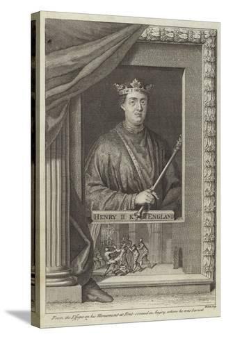 Portrait of Henry II of England--Stretched Canvas Print