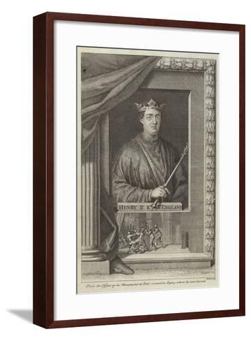 Portrait of Henry II of England--Framed Art Print