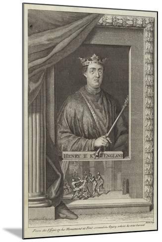 Portrait of Henry II of England--Mounted Giclee Print