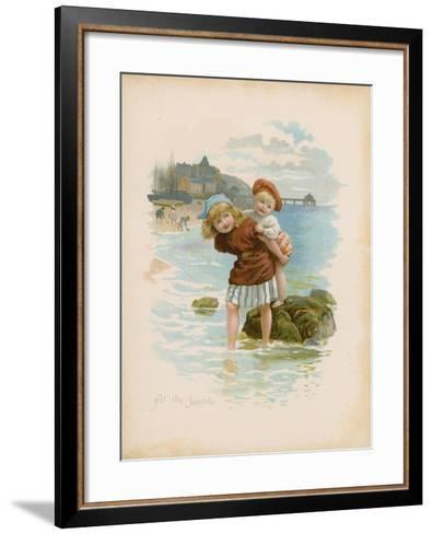 At the Seaside--Framed Art Print