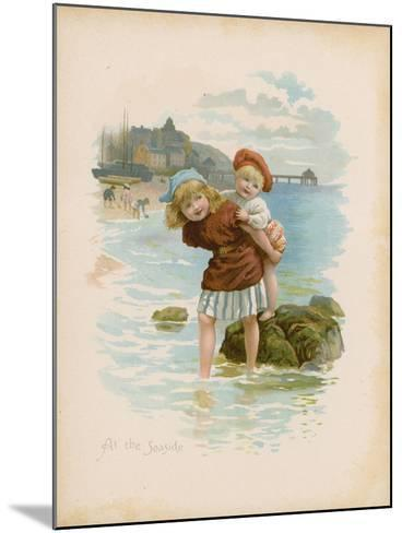 At the Seaside--Mounted Giclee Print