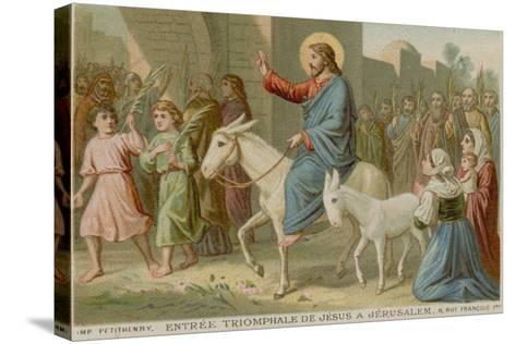 The Triumphal Entry of Jesus into Jerusalem--Stretched Canvas Print