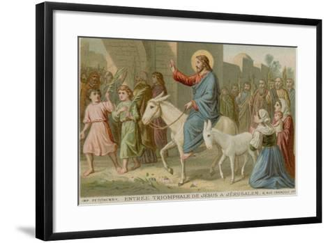 The Triumphal Entry of Jesus into Jerusalem--Framed Art Print