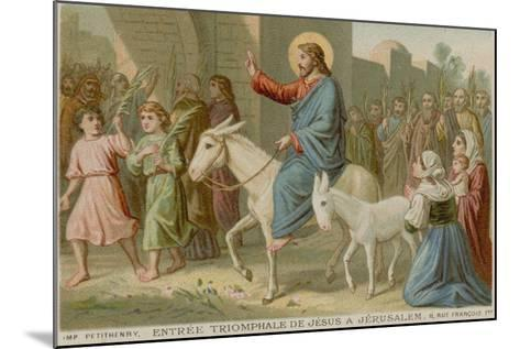 The Triumphal Entry of Jesus into Jerusalem--Mounted Giclee Print