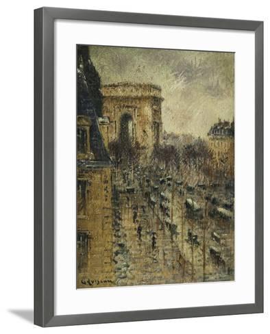 L'Arc De Triomphe, C.1930-1931-Gustave Loiseau-Framed Art Print
