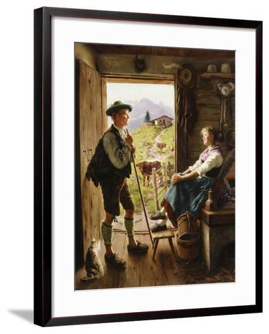 Tyrolean Couple-Emil Karl Rau-Framed Art Print