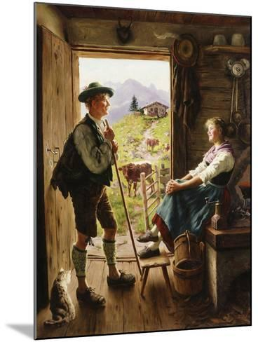 Tyrolean Couple-Emil Karl Rau-Mounted Giclee Print