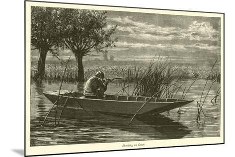 Shooting an Otter--Mounted Giclee Print