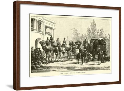 Our Camel Carriages at Bhurtpoor--Framed Art Print