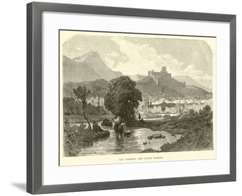San Germano and Monte Cassino--Framed Art Print