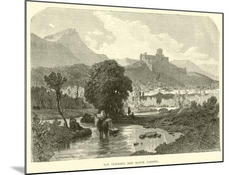 San Germano and Monte Cassino--Mounted Giclee Print