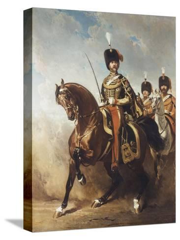 A Portrait of General Fleury on Horseback-Alfred Dedreux-Stretched Canvas Print