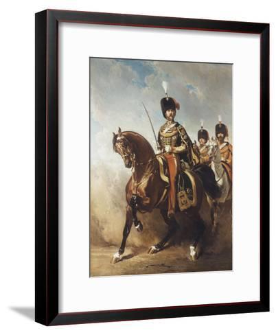 A Portrait of General Fleury on Horseback-Alfred Dedreux-Framed Art Print