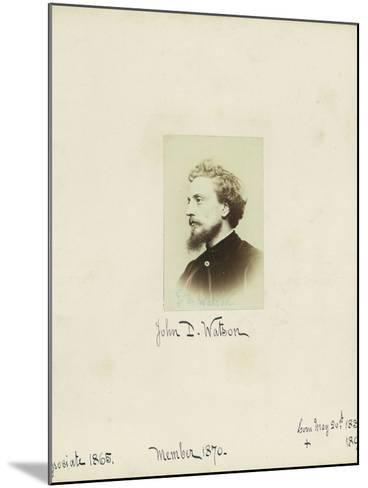 John D. Watson, 1864--Mounted Photographic Print