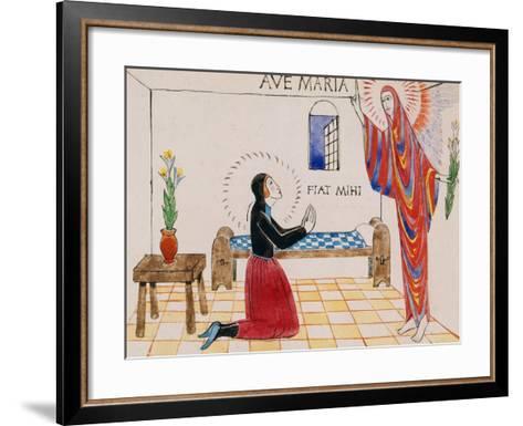 Annunciation, C.1912-Eric Gill-Framed Art Print