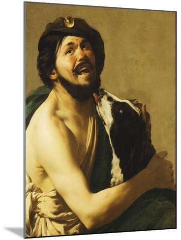 A Laughing Bravo with a Dog, 1628-Hendrick Terbrugghen-Mounted Giclee Print