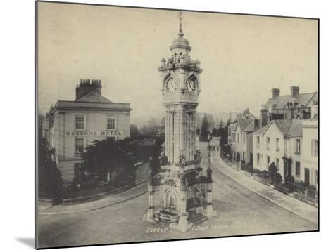 Clock Tower, Exeter, Devon--Mounted Photographic Print