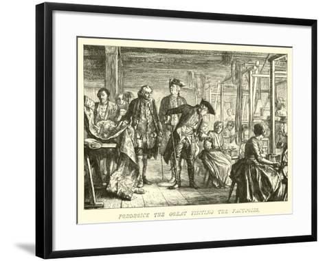 Frederick the Great Visiting the Factories--Framed Art Print