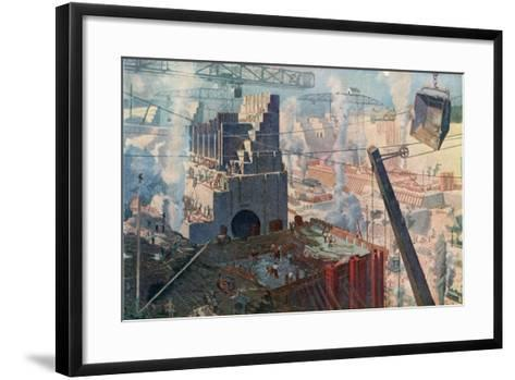 The Building of the Panama Canal, 1912--Framed Art Print