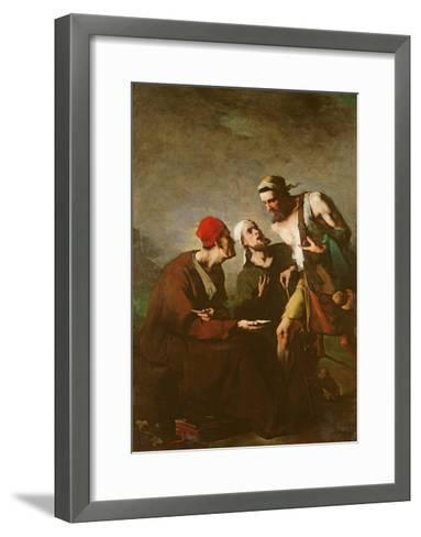 The Oyster and the Litigants-Auguste Theodule Ribot-Framed Art Print