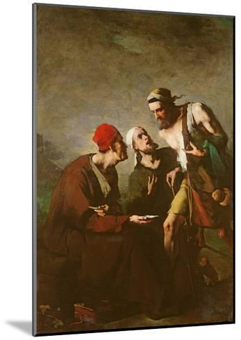 The Oyster and the Litigants-Auguste Theodule Ribot-Mounted Giclee Print