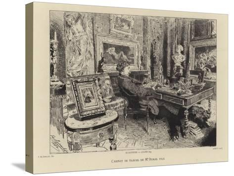 Alexandre Dumas the Younger in His Study--Stretched Canvas Print
