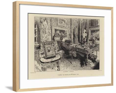 Alexandre Dumas the Younger in His Study--Framed Art Print