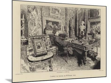 Alexandre Dumas the Younger in His Study--Mounted Giclee Print
