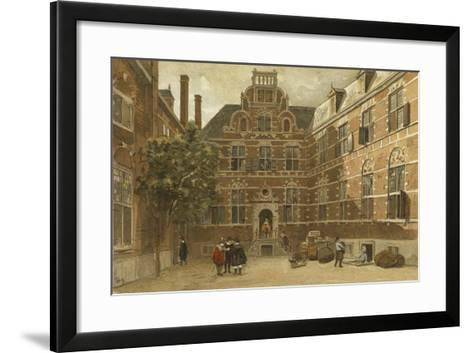 Courtyard of the Oost-Indisch Huis, Amsterdam--Framed Art Print