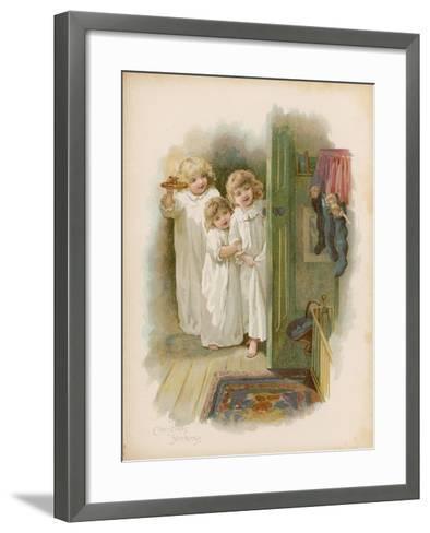 The Christmas Stockings--Framed Art Print