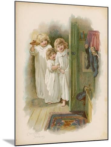 The Christmas Stockings--Mounted Giclee Print