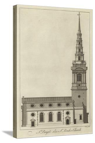 St Bride's Church, London--Stretched Canvas Print
