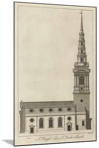 St Bride's Church, London--Mounted Giclee Print