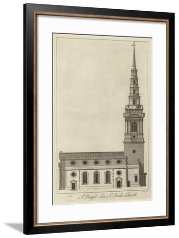 St Bride's Church, London--Framed Art Print