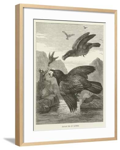 Elijah Fed by Ravens--Framed Art Print