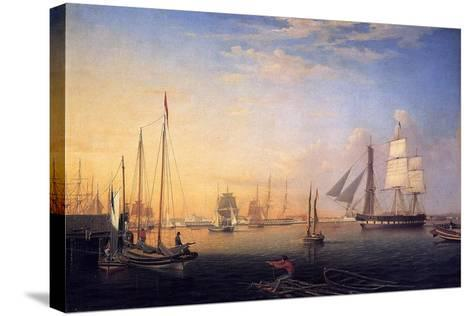 Baltimore Harbour, 1850-Fitz Henry Lane-Stretched Canvas Print