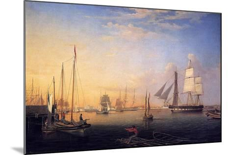 Baltimore Harbour, 1850-Fitz Henry Lane-Mounted Giclee Print