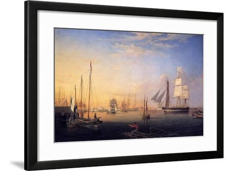 Baltimore Harbour, 1850-Fitz Henry Lane-Framed Art Print