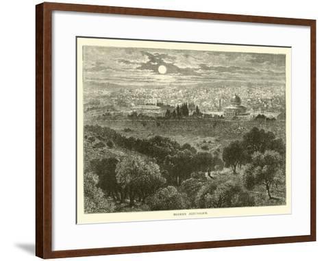 Modern Jerusalem--Framed Art Print