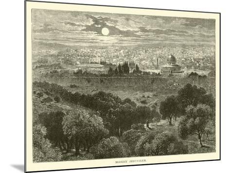 Modern Jerusalem--Mounted Giclee Print