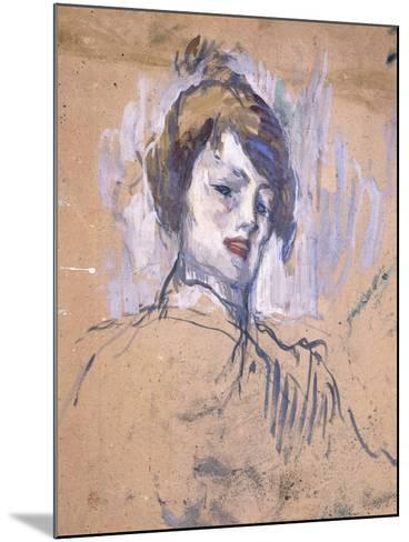 Head of a Woman, 1896-Henri de Toulouse-Lautrec-Mounted Giclee Print