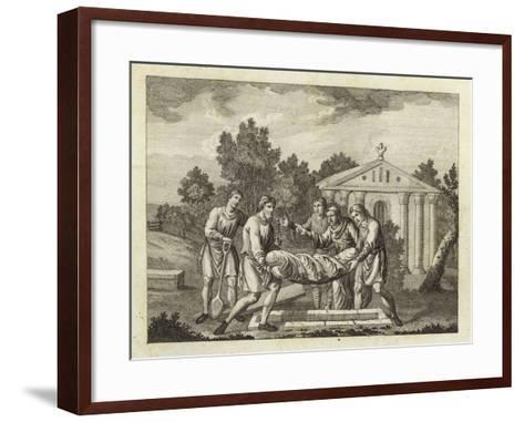 Burial by the Anglo-Saxons and Danes--Framed Art Print