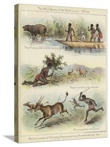 Native Modes of Hunting--Stretched Canvas Print