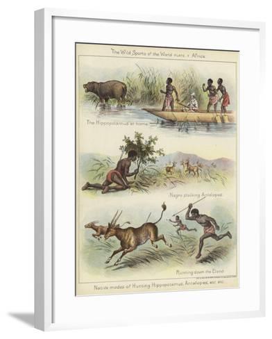Native Modes of Hunting--Framed Art Print