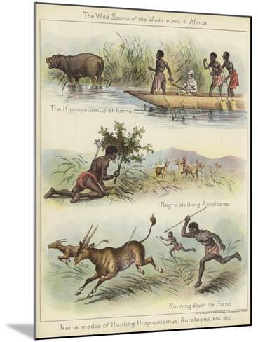 Native Modes of Hunting--Mounted Giclee Print